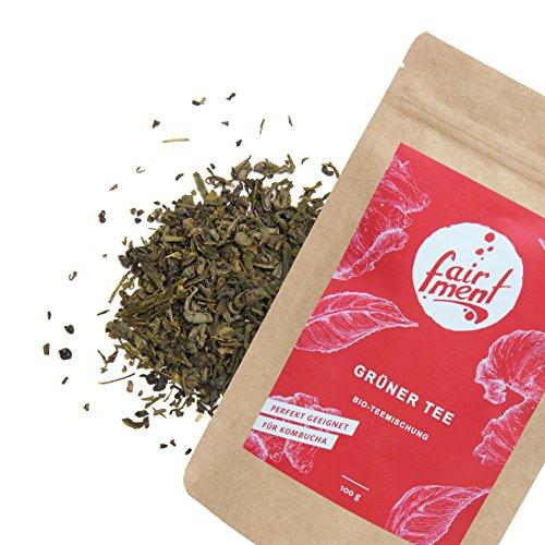 Grüner Tee-mischung (Premium Bio Teemischungen von Fairment®, für Kombucha geeignet, 100g (Grüner Tee/Jun Tee Mischung))