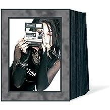 Daiber–Rollo de cinta de espacios para fotos, cartulina fotográfica mármol para formato de imagen, 13x 18cm, 125unidades), color negro/plata