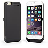 Woowo Battery Case 10000mah Power Bank External Battery Charger Backup Case Cover for iPhone 6 / iPhone 6S 4.7 inch Black