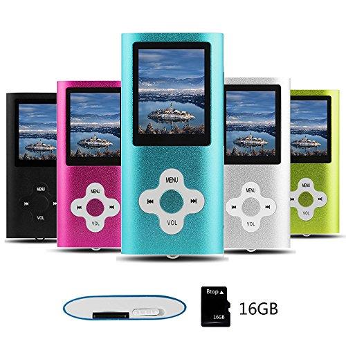 Btopllc MP3-Player, MP4-Player, Digital Music Player 16 GB interne Speicherkarte, tragbare und kompakte MP3 / MP4-Musik-Player, Media Player, Video Player, Picture Music Player - Blau