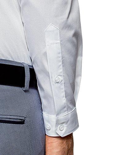 oodji Ultra Uomo Camicia Basic Extra Slim Fit Bianco (1000N)