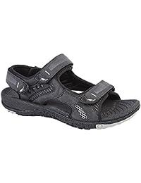 Ruanyi Pantoufles de Plage en Cuir, Véritables Chaussures de Sandales antidérapantes Occasionnels de Peau de Vache avec la Texture de Crocodile pour Les Hommes (Couleur : Bleu, Size : 48 EU)