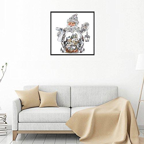 serliy 5D Diamant Malerei Weihnachten Schneemann Stickerei DIY Kreuzstich Kit Weihnachtsdekor