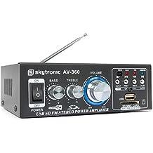 Skytronic 103.142 - Amplificador  con entrada micros