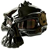Lidauto Motorrad Helmets Skull Amazing Einzigartige Matte Neuesten Cool All Seasons Black,Black,XL