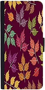 Snoogg A Seamless Pattern With Leaf Designer Protective Phone Flip Case Cover For Vibe K4 Note