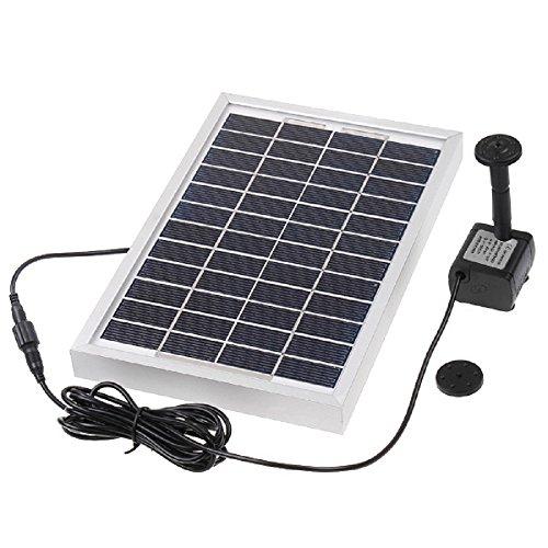 Anself - Bomba Solar de Ciclo de Agua de Silicio Policristalinos Sin Cepillo 12V 5Wpara Fuente Piscina Charca