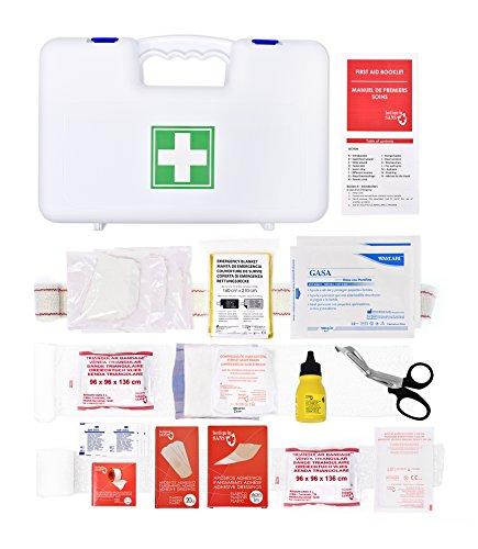 Boîte à pharmacie Nautique Hauturière <6 miles - Conforme à la nouvelle règlementation Division 240 (contient un coussin hémostatique, compresses pour brulures, une couverture de survie, un paire des ciseaux, sachets de solution désinfectante …)…