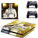 Playstation 4 + 2 Controller Aufkleber Schutzfolie Set - Fifa 18 (3) /PS4