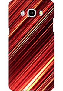 AMEZ designer printed 3d premium high quality back case cover for Samsung Galaxy J7 (2016) (Abstract metalic stripes light texture)