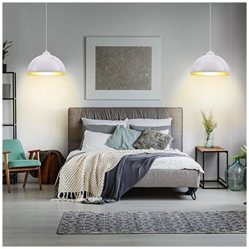 Lampadari LED a sospensione I set da 2 I lampada elegante da soffitto per l'illuminazione da interno I corpo metallo I montaggio lampadina 60 W I 230 V I E27 I IP20