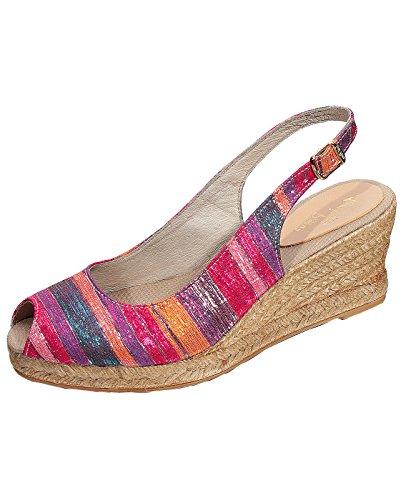 Toni Pons Damen Cervera Canvas Espandrille-Sandalette Multicolor