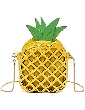 Honeymall 3D Mädchen klein süße Obst mini Clutch Umhängetaschen Handtasche transparente Abendtasche mit Reißverschluss...