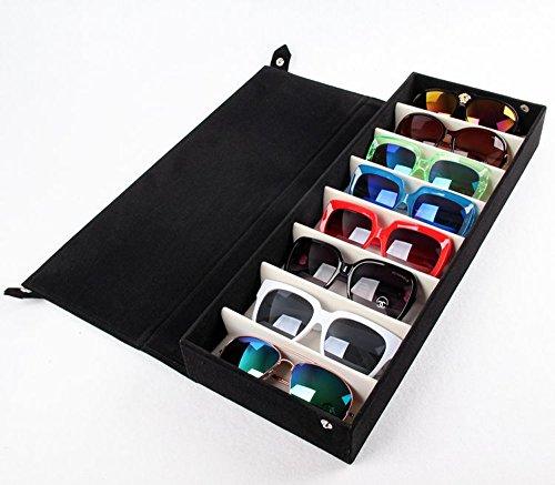 ba9da73340 Beddingleer Almacenamiento de gafas / Caja de Vitrina Almacenamiento /  Cajas para 8 gafas del sol