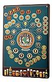 Cartel Letrero de Chapa Motivo Retro Cerveza Cocina