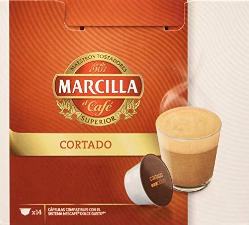 MARCILLA Cortado - cápsulas compatibles con las cafeteras NescaféR* Dolce GustoR* | 3 paquetes...