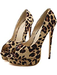 d8d32316 ZHZNVX Zapatos de Mujer Polipiel Primavera Otoño Comfort Novedad Botas Moda  Sandalias Stiletto Talón para Boda