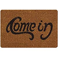 QZUnique Non-slip Doormat Indoor Outdoor Kitchen Letters Floor Rug Front Door Mat Funny Flannel Carpet 40 X 60 cm