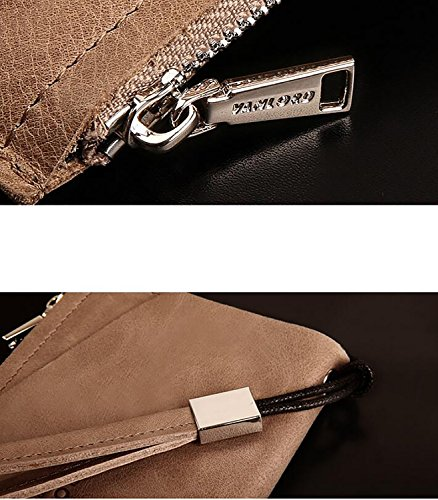 ZXDOP Brieftasche Männer Leder Brieftasche Retro Herren Lange Reißverschluss Herren Leder Brieftasche ( farbe : 3# ) 3#