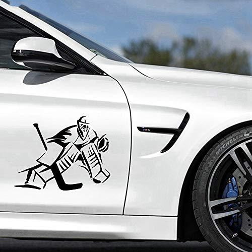 18,9 cm x 14,6 cm Torwart Eishockeyspieler Auto Aufkleber Aufkleber Auto Aufkleber
