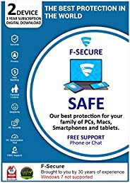 F-Secure SAFE Multi-device Internet Security 2 PC 3 Years (Email Delivery in 2 Hours - No CD)