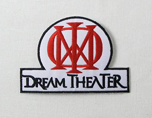 dream-theater-red-white-embroidered-badge-patch-iron-or-sew-on-95cm