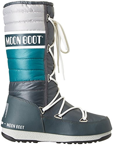 Moon Boot W.E. Quilted, Stivali, Unisex - adulto Petrolio/Verde/Arg.