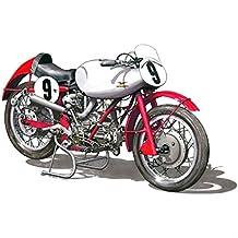 Tarjeta de felicitación, Moto Guzzi V2 Bicilindrical, tamaño A5
