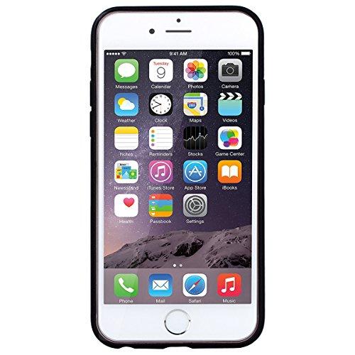 Yokata iPhone 6 / iPhone 6s Hülle Hart PC Handyhülle Soft Flexible Silikon TPU Bumper Cover Ultra Slim Stoßfest PC Plastik Harte Schutzhülle mit Cherry Blume Muster Tasche Rückschale Hardcase für iPho Grün