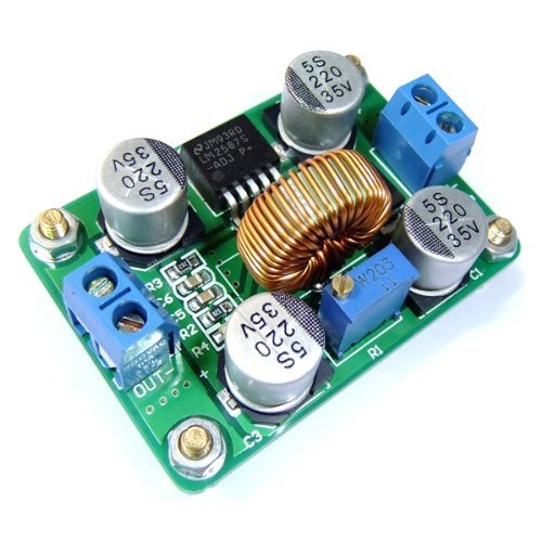 iHaospace DC-DC 3.5-30V to 4-30V Adjustable LM2587 Boost Voltage Regulator Step-up Power Converter Power Supply Transformer Module Board with High Power Terminal for Solar Panel Car Battery -