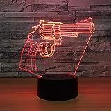 Die besten NEW Freund Guns - Lixiaoyuzz 3D Nachtlampe New Revolver Gun Lamp 7 Bewertungen