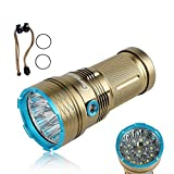 GiareBeam Waterproof LED Flashlight 12000 Lumen 12xCREE XM-L T6 Self-Defense Function Torch 3