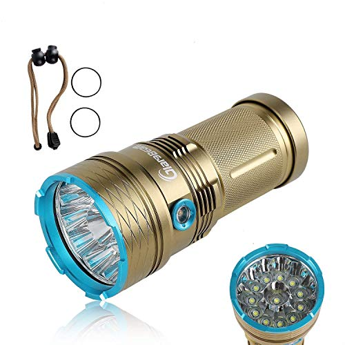 GiareBeam Linterna LED impermeable 12000 Lumen 12xCREE