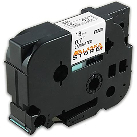 1x Roll Tape Cassette für Brother TZ Tape 241 Black 18mm P-Touch