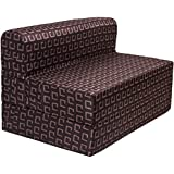 uberlyfe Poly Cotton Sofa/Bed Fabric Washable Cover (Dark Brown, 3x6 ft)