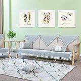 DULPLAY Sommer Couch-schutzhülle,Sofabezug Reine Farbe Anti-Rutsch Protector für Hund Gesteppte Sofa möbel Separat erhältlich Universal Vier Jahreszeiten-A 70x120cm(28x47inch)