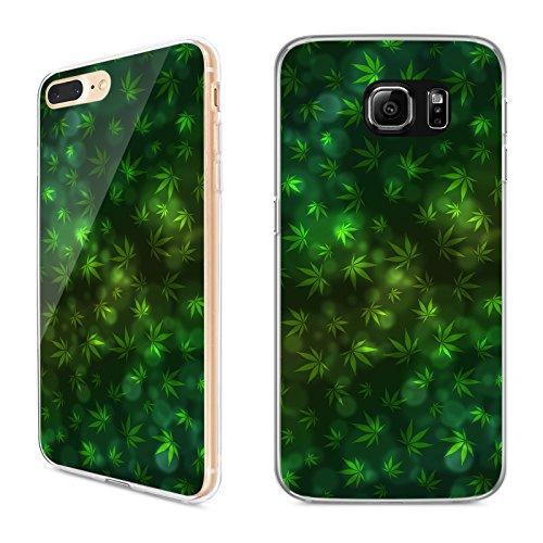 Handyhülle Cannabis für Samsung | Silikon Marihuana Weed Grass Hanf Canabis, Handy:Samsung Galaxy J5 (2017), Hüllendesign:Design 3 | Silikon Klar