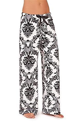 Pyjama polaire, robe de chambre et robe polaire pour femmes, Baroque Pantalon, S (FR 36-38)