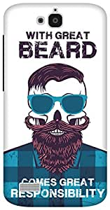The Racoon Grip Beard Responsibility hard plastic printed back case/cover for Huawei Honor Holly