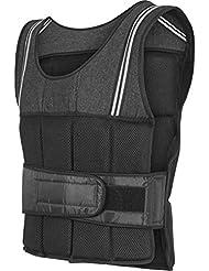 Gorilla Sports® Veste lestée 10kg/18kg Noir pour fitness et Courir