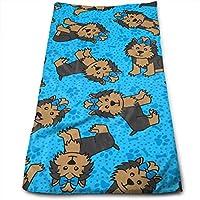 ewtretr Toallas De Mano, Yorkie Party Dog Cool Towel Beach Towel Instant Cool Ice Towel