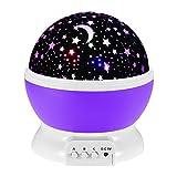 Baby Nachtlicht Projektor Sternenhimmel,WAWJ Dekoratives Licht für Kinder Erwachsene,Schlafzimmer Wohnzimmer wie Weihnachten & Fest Geschenk (Lila)