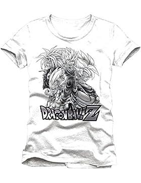 Dragon Ball Z Sayan grupo camiseta de algodón blanco