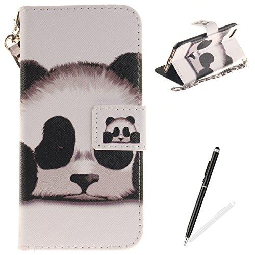 iPhone 7 iPhone 8 4.7 Cover,MAGQI Custodia Wallet in Pelle Alta Qualità Sottile PU Copertura del Portafoglio Folio Skin Protettivo Conchiglia Case per iPhone 7 / 8 - Mandala Colorato Cute Panda