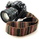 Electomania® Universal Color Stripes Soft Red Camera Neck Straps Shoulder Strap Belt Grip for DSLR Nikon Canon Panasonic Sony