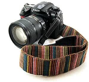 Electomania® Universal Color Stripes Soft Red Camera Neck Straps Shoulder Strap Belt Grip for DSLR Nikon Canon Panasonic Sony Pentax