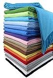 STTS International Baumwolldecke Wohndecke Kuscheldecke Tagesdecke 100% Baumwolle 130 x 170 cm sehr weiches Plaid Rio Alle Farben (Türkis)