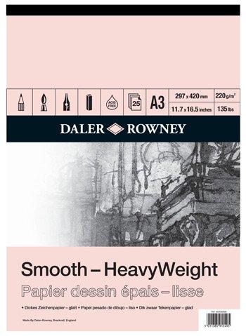 Rowney tama/ño A2, 25 hojas, acuarela y otras t/écnicas Daler Paquete de papel ingres