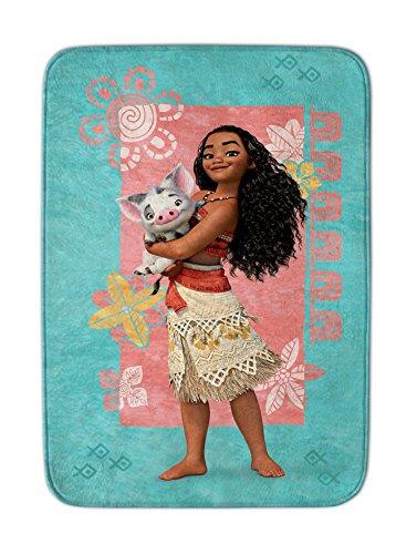 Achoka Moana 22Teppich Disney Princess Flauschiger, Polyester, Mehrfarbig, 70x 95x 0,76cm (Disney Prinzessin-spiel-teppich)