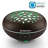 Alfawise Aroma Diffuser Luftbefeuchter Wohnung 400ml Tragbarer Luftbefeuchter Kühle Nebel für gute Laune und Schlaf Kompatble mit Alexa / Google Home Smartphone Gesteuert
